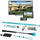 PHIGOLF Simulatore di Gioco di Golf Intelligente per dispositivi mobili e Domestici con Bastone Dell'Oscillazione - Edizione WGT
