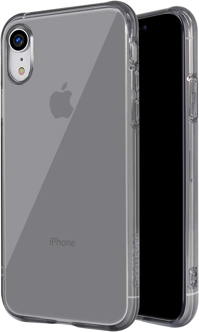 CellEver Compatible with iPhone XR [Anti-Yellowing] Clear Case, Protective Flexible Shock-Absorbing & Scratch Resistant Slim Cover - Designed for iPhone XR 6.1 inch 2018 - Smoke Black