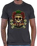 HARIZ Camiseta para Hombre Not A Game Calavera Sombrero Dart Diana Sport Fun Camiseta Plus Tarjeta de Regalo Gris Oscuro XXL