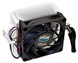 Cooler Master AMD Socket FM2 FM1 AM3 AM2 1207 940 939 754 4-Pin Connector CPU Cooler with Aluminum Heatsink & 2.75-Inch Fan with Pre-Applied TRONSTORE Thermal Paste for Desktop PC Computer