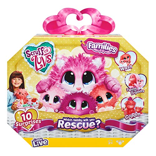 Little Live Pets Scruff-A-Luvs Family | Wash, Dry and Brush to Rescue...