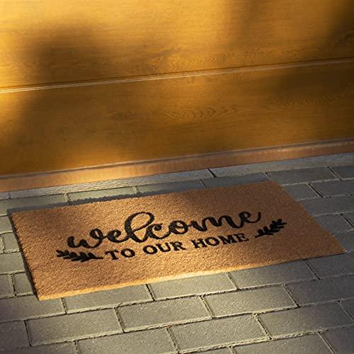 Odraude Venture - Felpudo Entrada Casa - Felpudos Originales Divertidos Baratos Coco Alfombra Exterior Interior Alfombras Alfombrilla Desinfectante Antideslizante Puerta Goma Personalizados - Diseño
