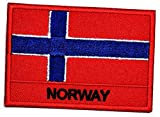 Norway Flag Iron On sew on Patch Norway Flag Country National Emblem Iron On Sew On Patch Military Uniform Emblem Logo Clothes Jacket Jeans Cap Backpacks (05)