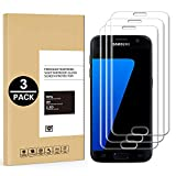 Protector de Pantalla Samsung Galaxy S7 Edge, [3 Unidades] Cristal Templado para Samsung Galaxy S7 Edge [9H Dureza] [Arañazos Resistente] [2.5D Borde] Sin Burbujasn, Anti-Huella - HD Transparente