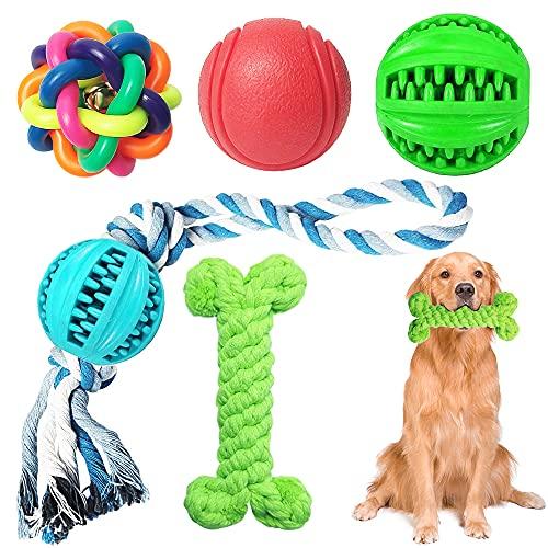 5 Stück Kauspielzeug Hundespielzeug Spielzeug, Langlebige Gummi Spaß Hundezahnbürste Interaktives Training Spielzeug für große und kleine Hunde (Green)
