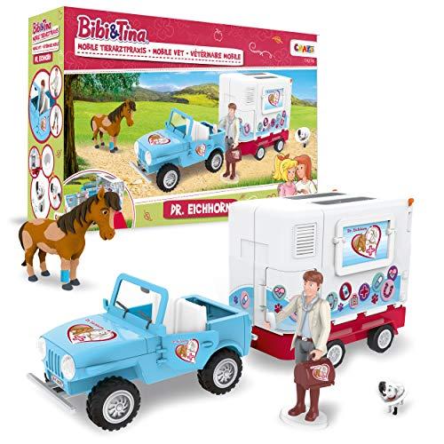 CRAZE BIBI & TINA Mobile Tierarzt Station Dr. Eichhorn Pferde Spielset Tierarzt Doktor Pferde Doctor Spielfiguren 19276