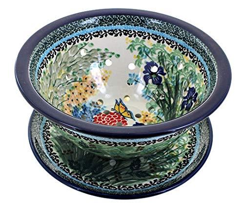 Blue Rose Polish Pottery Teresa Berry Bowl Plate