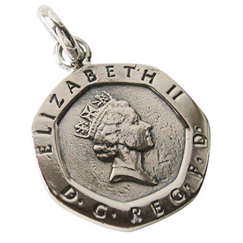 本物のイギリスのコインペンダント(6) メンズ レディースコイン 硬貨 アクセサリー メンズ レディース 海外