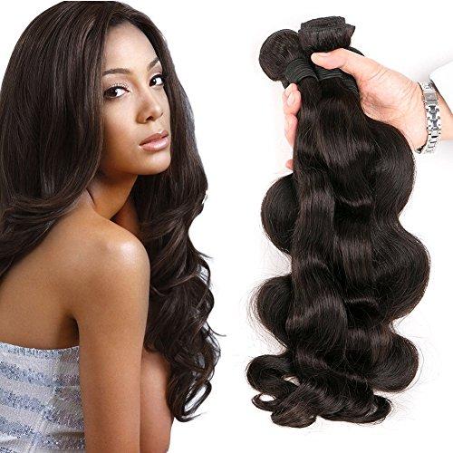 Body Wave Brazilian Hair 3 Bundles Tressen Echthaar 300g Verlängerung Human Haar Haare Echthaar Extensions Locken Natürlichen Color 12 14 16 Inches