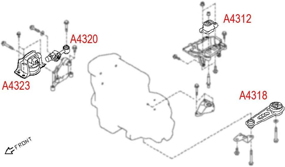 buy engine motor mount fits 2009-2014 nissan cube&2007-2012 nissan versa  1.8l a4312 a4318 a4320 a4323 online in turkey. b07gf8kmgc  ubuy