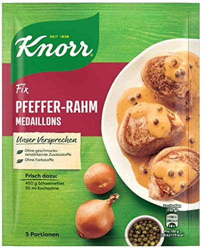 Knorr Fix Pfeffer-Rahm Medaillons 3 Portionen (1 x 35 g)
