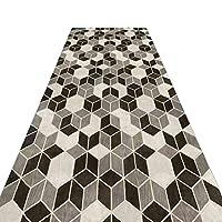 じゅうたん 廊下のカーペットロング ランナー ラグ 滑り止め 廊下敷きカーペッ 通路 エントランス 敷物 フロアマット 台所の通路のための幾何学的な柄の床のマット、カスタマイズ可能 (Color : A, Size : 100x300cm)