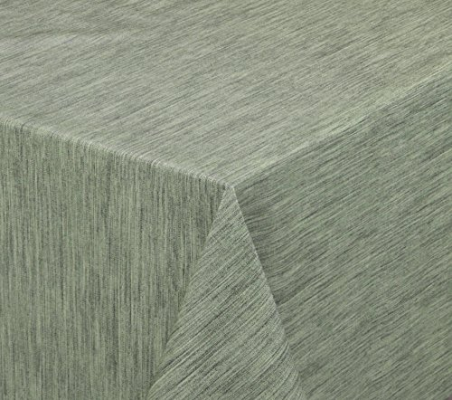 BEAUTEX Wachstuchtischdecke rund oval eckig, Georginias Tischdecke abwischbar LFGB, Farbe und Größe wählbar (Eckig 180x140 cm Antikgrün)