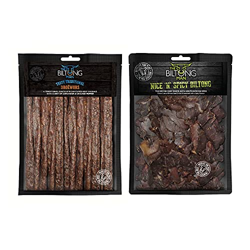 1kg Spicy Biltong Combo, High Protein Snacks, Low Sugar Snacks, Low Calorie...