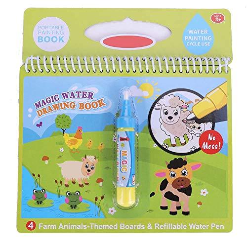 Zerodis vatten målarbok Doodle magisk bärbar ritbok pedagogisk leksak tidig utbildning barns daggåva (gård)