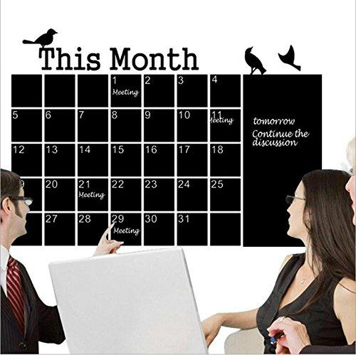 Planificador mensual, pizarra con pizarra y calendario de pared para oficina en el hogar