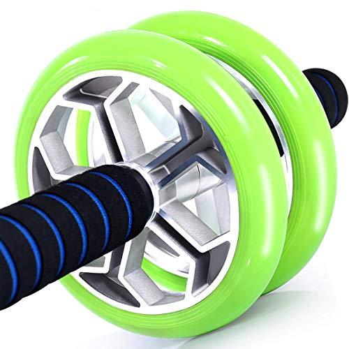 BYBYC Ab Roller Rad -Ab Fitnessausrüstung - ABS-Core Trainer Equipment - Home Gym Und Übungs-Trainings-Ausrüstung,Grün