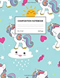 Composition Notebook: Wide Ruled Cute Unicorn Blank Lined Cute Notebooks for Girls Teens Kids School Writing Notes Journal - Primary Composition Notebook - Notes # 005679