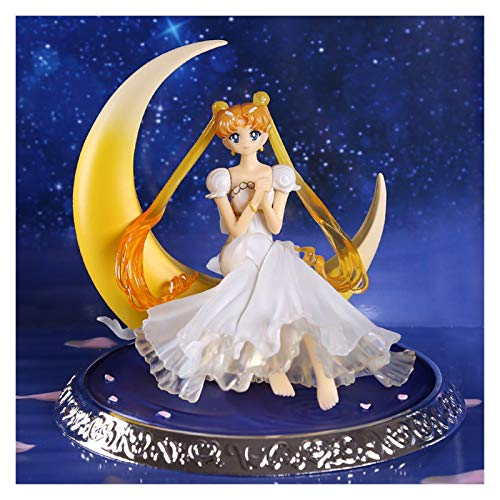 Yanchuan PVC-Spielzeug Anime Super Sailor Moon Dolls PVC Action Figure Flügel Kuchen Dekoration Sammlung Modell Spielzeug Puppe (Color : with OPP Bag)