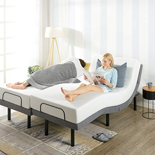 Mellow Genie 500 - Adjustable Bed Base, Unique Added Head Tilt, Wireless Remote Control, 5 Minute Tool-Free Assembly, Dual USB Charging Ports, Split King