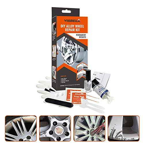 Leichtmetallrad Reparatur Klebesatz DIY 5 Minuten Allzweck-Silberlack-Fixierwerkzeug Für Auto Auto Felge Dent Scratch Care Zubehör