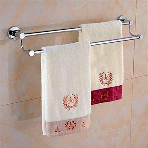 MBYW hoge dragende handdoek rek badkamer handdoekenrek Opslag plank 30-120cm roestvrij staal handdoek rek dubbele pool hoge en lage enkele dubbele buis handdoek opknoping badkamer handdoek staaf verlenging (8E4F)
