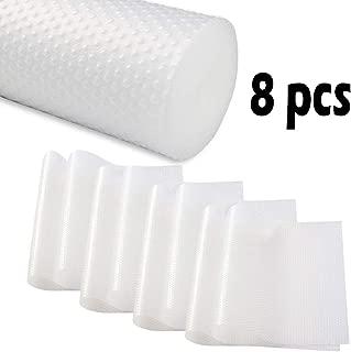 PABUSIOR Refrigerator Liners Mats Transparent 8 Pack, 11.8