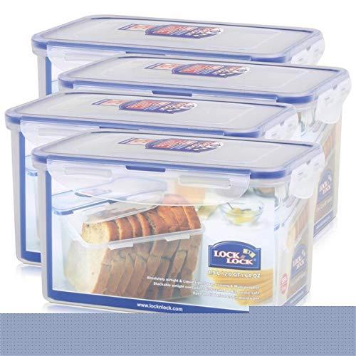 (4 Stück), & Lock Lock Aufbewahrungsbehälter eckig, w, 100% wasserdicht, groß, HPL818 7,9-Tasse, 64 ml