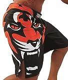 Pantalon MMA de lucha para deportitas de contacto. Short y pantalón corto bermudas resistentes. (leon) M