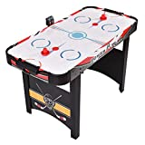 Goplus 48' Air Powered Hockey Table Indoor Sports Game Electronic Scoring Red Puck for Kids