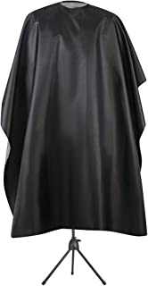Bqueen Waterproof Professional Barber Cape Hair Salon Cape with Adjustable Metal Snap Closure Salon Cutting Cape Barber Hairdressing Cape for Barbers and Stylists Black 63 X 55 inch (Pack of 1)