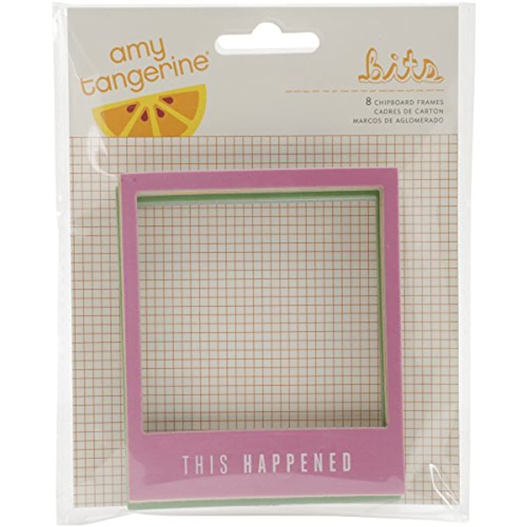 American Crafts Amy Tangerine Rise and Shine Chipboard Frames