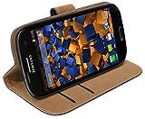mumbi Ledertasche im Bookstyle für Samsung Galaxy S3 i9300