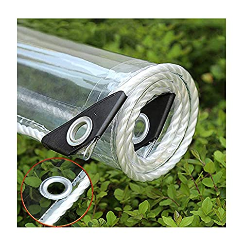 365 G / M² Lona Transparente De PVC Impermeable Para Trabajo Pesado Cubierta De Lona De Vinilo Polivinílico Transparente, Cubierta A Prueba De Lluvia Para Dosel De Plantas Plegable, Toldo De Toldo