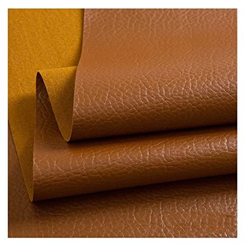LYRFHW Tela de Cuero de Lichi respetuosa con el Medio Ambiente Parche de Cuero Artificial sofá Cama de Cuero Fondo KTV Hotel Bolsa Suave y Dura (tamaño: 1.4x1m) (Color : Color 2, Size : 1.4X5m)