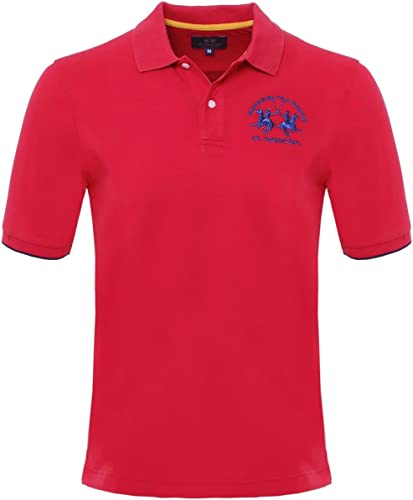 La Martina Plain Polo Shirt Rouge
