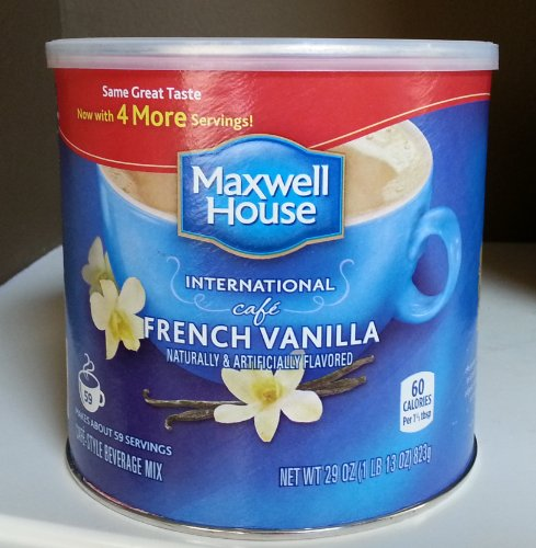 Maxwell House International Caf? French Vanilla, 27-Ounce Packages (Pack of 6)