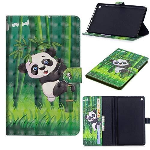 LMFULM® Hülle für Huawei MediaPad M5 (10,8 Zoll) PU Leder Ultra Dünn Magnet Lederhülle Panda Muster Tasche Auto Schlaf/Wach Funktion Schutzhülle für Huawei M5 10.8