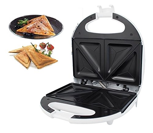 New White Electric Warm Sandwich Toast Toaster Maker 700W Non Stick Kitchen