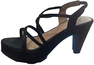 SANDAL HOUSE Articles 721 Black Heel Sandal for Women