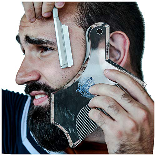 Monster&Son Beard Shaping Tool - Classic Oversized Design (Clear)