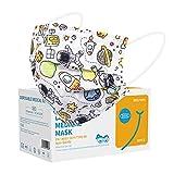 Acewin Mascherine Chirurgiche Colorate Bambini - 50 Pezzi Maschere viso usa e getta Certificate CE Mascherina 3 strati Alta Efficienza di Filtraggio Face Mask Protettiva Viso