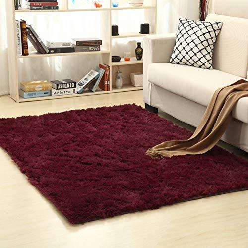 MPLG Teppich 200 * 400Cm Superweicher Seidenteppich Indoor Moderner Wollteppich Schlafzimmer...