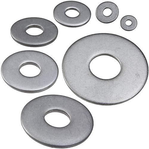 100 Stück Edelstahl Unterlegscheiben M6 (6,4) DIN 9021 - rostfreie Karosseriescheiben A2 / V2AAISI 304
