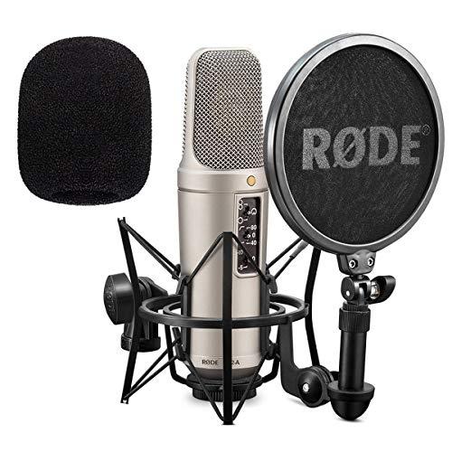 Rode NT2-A Set Kondensator Mikrofon + keepdrum WS02 Schaumstoff Windschutz