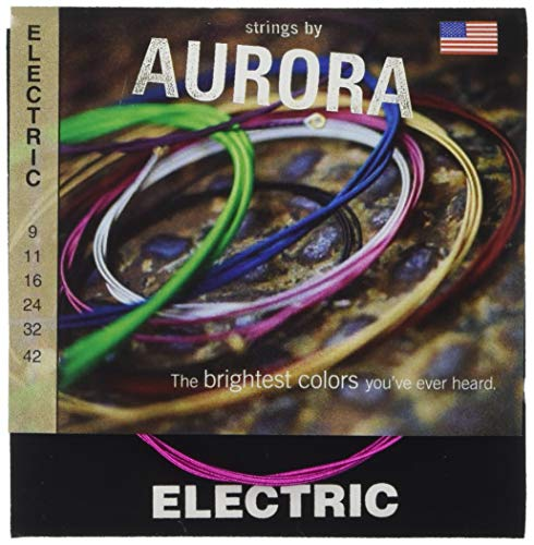 Aurora aurblk9–42Premium Farbige E-Gitarre Saiten, Pink, 9–42