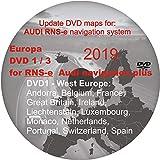 RNS-E 2018-2019 Navigation Plus - Mapa de navegación por satélite - compatible con AUDI, SEAT EXEO (Disco 1 - Europa Occidental)
