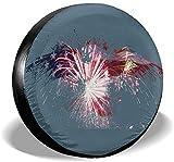 N/A Protezione Solare per Pneumatici Ruota di Ricambio Eagle Fireworks Flag degli Stati Un...