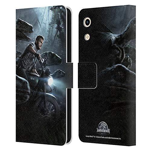 Head Hülle Designs Offizielle Jurassic World Owen und Velociraptors Schluessel Kunst Leder Brieftaschen Handyhülle Hülle Huelle kompatibel mit Huawei Honor Play 8A