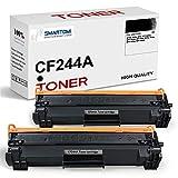 SMARTOMI - 2 cartucho de tóner negro de alto rendimiento compatible con cartuchos CF244A 44A para impresoras HP LaserJet Pro MFP M15w M15a M15 M28w M28a M28 M16a M16w M29a M29w (con chip 1000 páginas)
